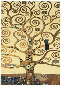 Teppich 230 X 230 : gustav klimt teppich lebensbaum eckig 230 x 160 cm ars mundi ~ Indierocktalk.com Haus und Dekorationen