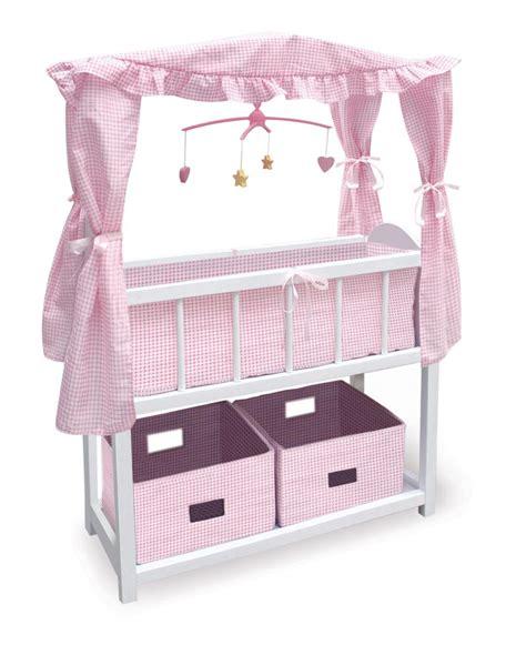 badger basket doll bed new badger basket canopy baby doll crib 2 baskets ebay