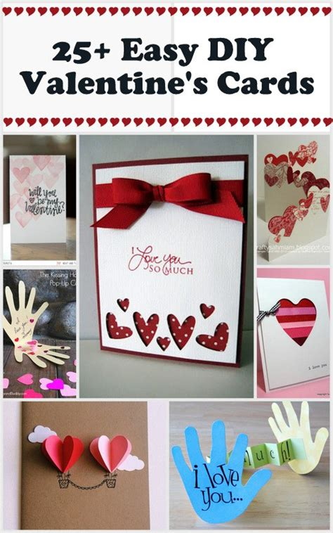 25+ Easy Diy Valentine's Day Cards  Scrap Booking