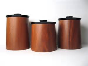 kitchen counter canister sets modern walnut wood canister container by