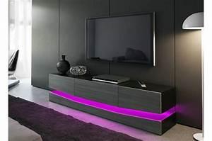 Meuble Tele Moderne : meuble t l bas moderne miami cbc meubles ~ Teatrodelosmanantiales.com Idées de Décoration