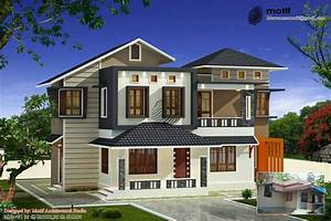 1642, Square, Feet, 3bhk, Double, Floor, Kerala, Home, Design, With