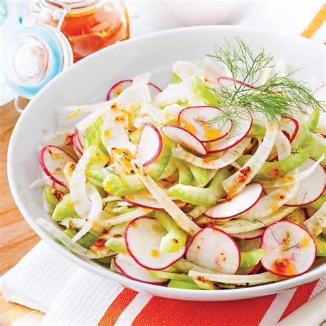 cuisine fenouil salade rafraîchissante au fenouil et radis recettes