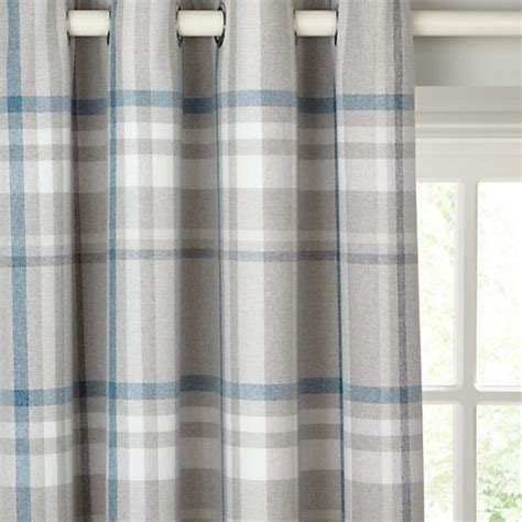 buy lewis darcey check lined eyelet curtains lewis
