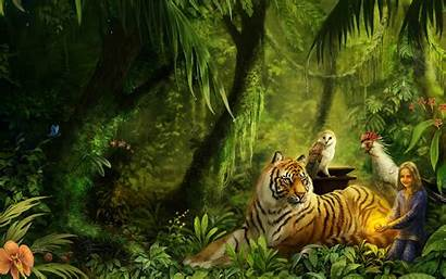 Fantasy Desktop Wallpapers Tiger Backgrounds Computer Animals