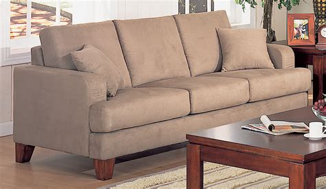microfiber or leather sofa sofas microfiber darcy microfiber sofa with optional pull