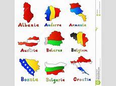 Albania, Andorra, Armenia, Austria, Belarus, Belgi Stock