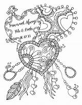 Coloring Pages Adult Anniversary Happy Forever Always Drawing Printable Karen Quote Books Lukens Colouring Wedding Heart Valentine Etsy Cool Sketch sketch template