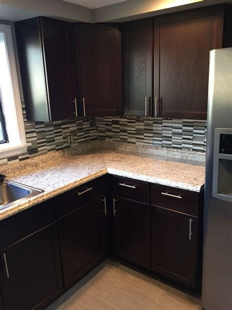 Home Depot Cabinets In Stock by Home Depot Stock Hton Bay Java Kitchen Cabinets With