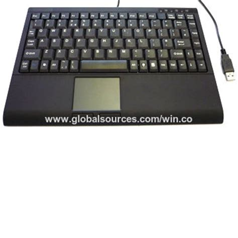 china customized wired keyboard  touchpad  usb port