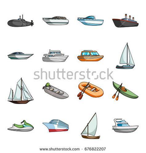 Various Types Of Boats by Motor Boats Catamaran Windsurfer Sailboat Various Stock
