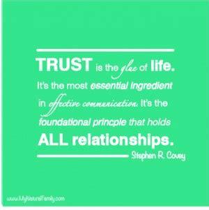 earning trust back