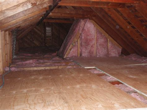 attic flooring home pride contracting installing plywood in an attic