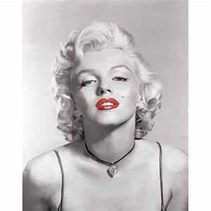 Marilyn Monroe Black and White Red Lips Necklace Canvas ...