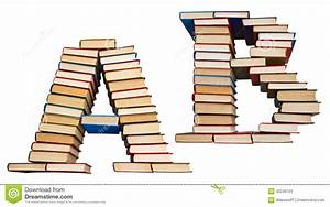 alphabet made out of books letters a and b stock photo With letters made out of pictures