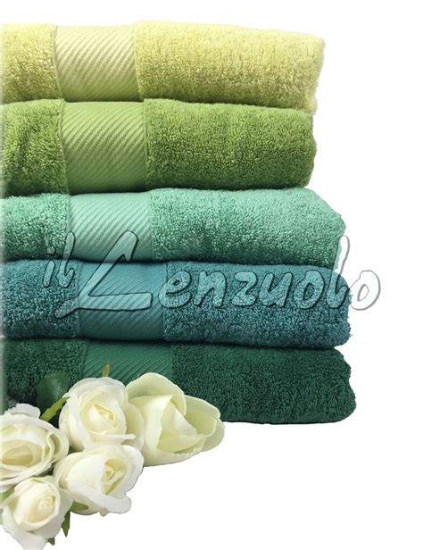asciugamani spugna set  gabel mille sfumature verde