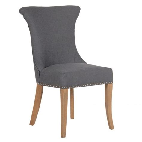 grey studded dining chair with ring