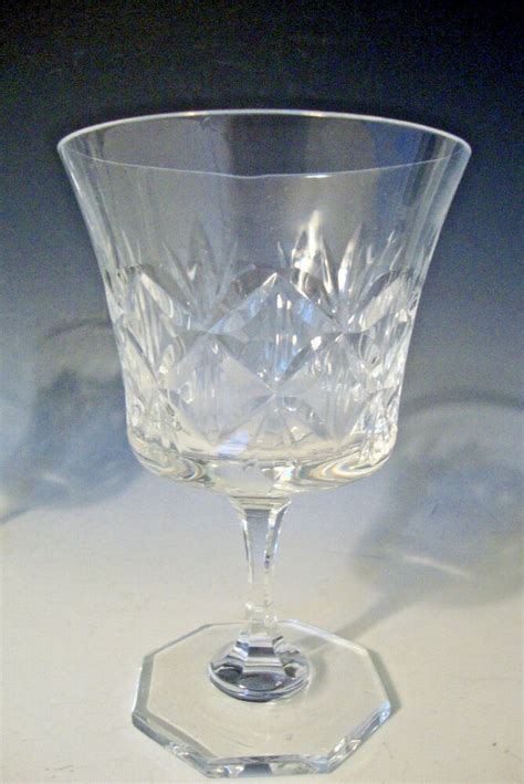 vintage art glass red winewater goblets clear stems