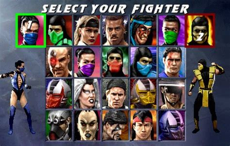 choose  fighter  evolution   mortal kombat