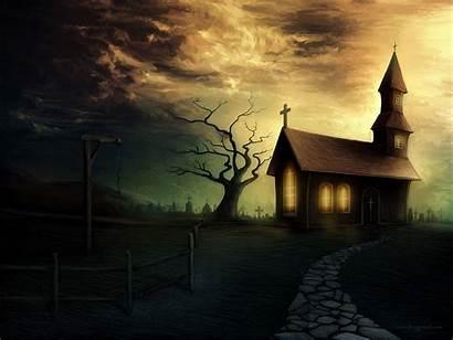 Creepy Haunted Wallpapers Background Backgrounds Desktop Spooky