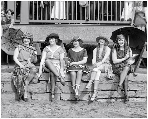 """June 25  1921 Washington, Dc """"bathing Costume Contest"""