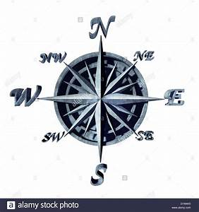 Süd Ost West Nord : kompass symbol als navigationsobjekt mit nord s d ost und west richtungen als 3d abbildung ~ Markanthonyermac.com Haus und Dekorationen