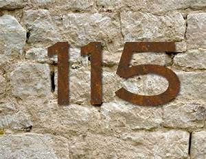 9 curated house numbers ideas by colleenbhindman address With 3 inch rustic metal letters