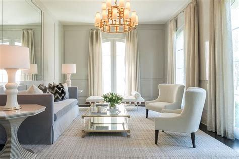 Elegant Light Gray Paneled Gray Living Room
