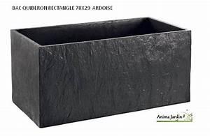 Jardinière Rectangulaire Pas Cher : bac jardini re en b ton cir 78cm quiberon couleur ardoise achat ~ Preciouscoupons.com Idées de Décoration