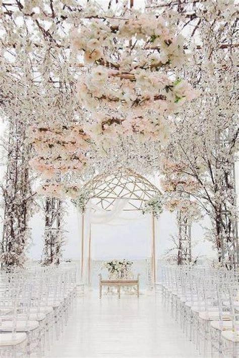 62 extravagant white indoor wedding ceremony 12 Indoor