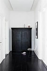 parquet noir et blanc cr57 jornalagora With parquet peint en noir