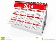 2014 Year Desktop Calendar Royalty Free Stock Photo