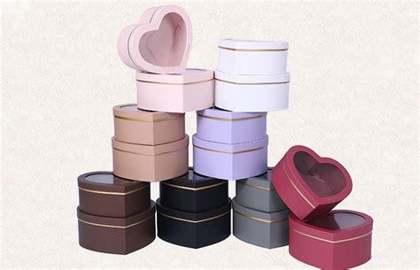 luxury wholesale custom heart shaped paper flower boxes