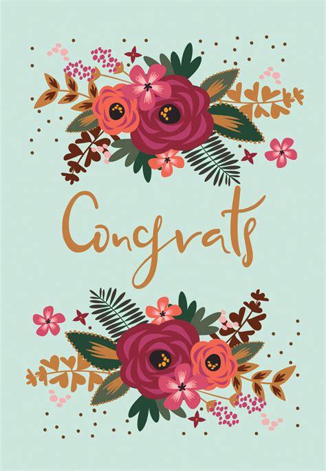 floral congrats tarjeta de felicitacion gratis  island