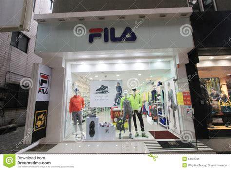 fila shop  south korea editorial photo image  korea