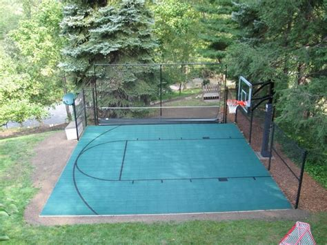 Half Court Basketball Dimensions For A Backyard - half court basketball court projects backyard