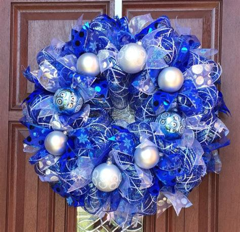 ideas  blue christmas decor  pinterest
