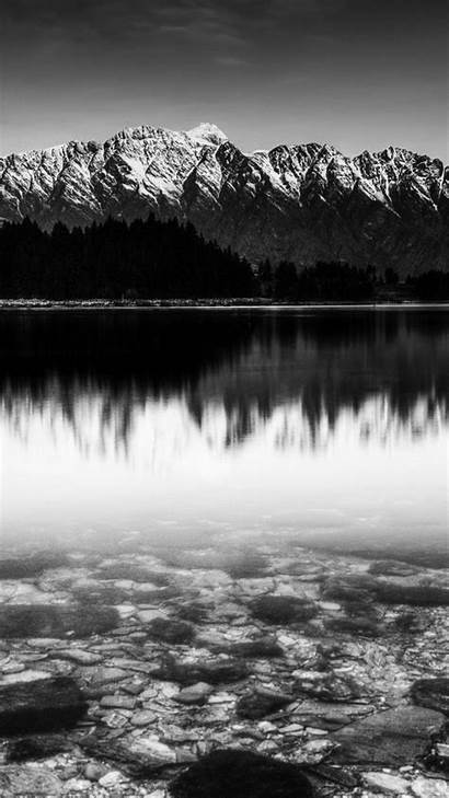 Iphone Mountain Snow Lake Wallpapers Nature Android