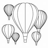 Coloring Air Balloons Balloon Printable Sheets Template Outline Printables Templates Crafts Trace Toddlers Pattern sketch template