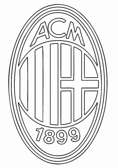 Coloring Pages Soccer Milan Ac Printable Football