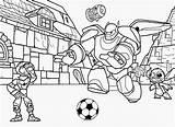 Coloring Pages Printable Drawing Hero Easy Boy Baymax Disney Rainforest Robot Football Cartoon Printables Boys Superhero Soccer Playing Popular Getcolorings sketch template