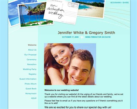 theknot websote templates wedding planning 101 build an awesome wedding website