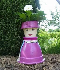 Creation Avec Des Pots De Fleurs : personnage pot de fleur eu36 jornalagora ~ Melissatoandfro.com Idées de Décoration