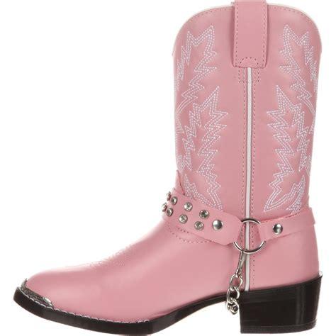 Durango Kidu0026#39;s Pink Rhinestone Western Boots - Style #BT568