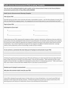 psa planning template With public service announcement template