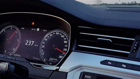 vw passat   tdi dsg  ps top speed youtube