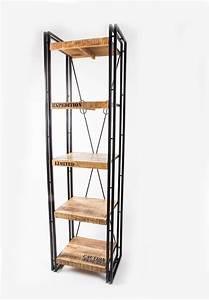 Regal Industrial Design : regal metall massivholz im industriedesign industrial ~ Michelbontemps.com Haus und Dekorationen