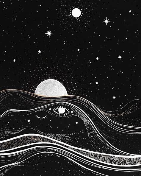 ameyasrealm moon psychedelic