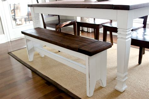farm style table with bench diy farmhouse bench free plans rogue engineer