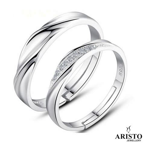 sterling silver adjustable open engagement ring womens